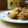 (Receta) Sauerkraut con bratwurst al estilo poco pelo (Repollo agrio con salchicha a mi estilo)