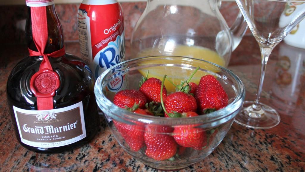 Fresas con crema y Grand Marnier (Ingredientes)