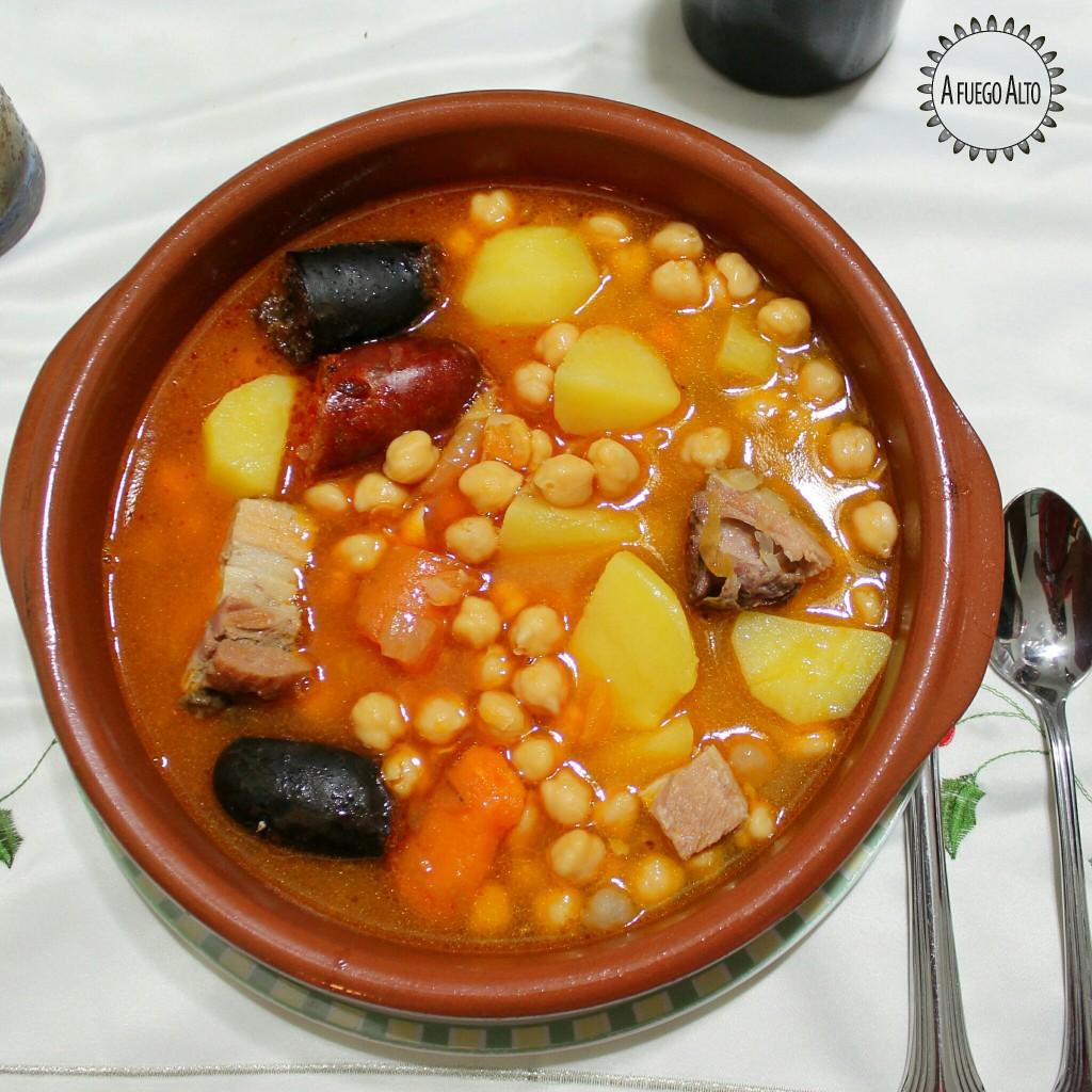 Receta cocido de garbanzos afuegoalto - Preparacion de garbanzos cocidos ...