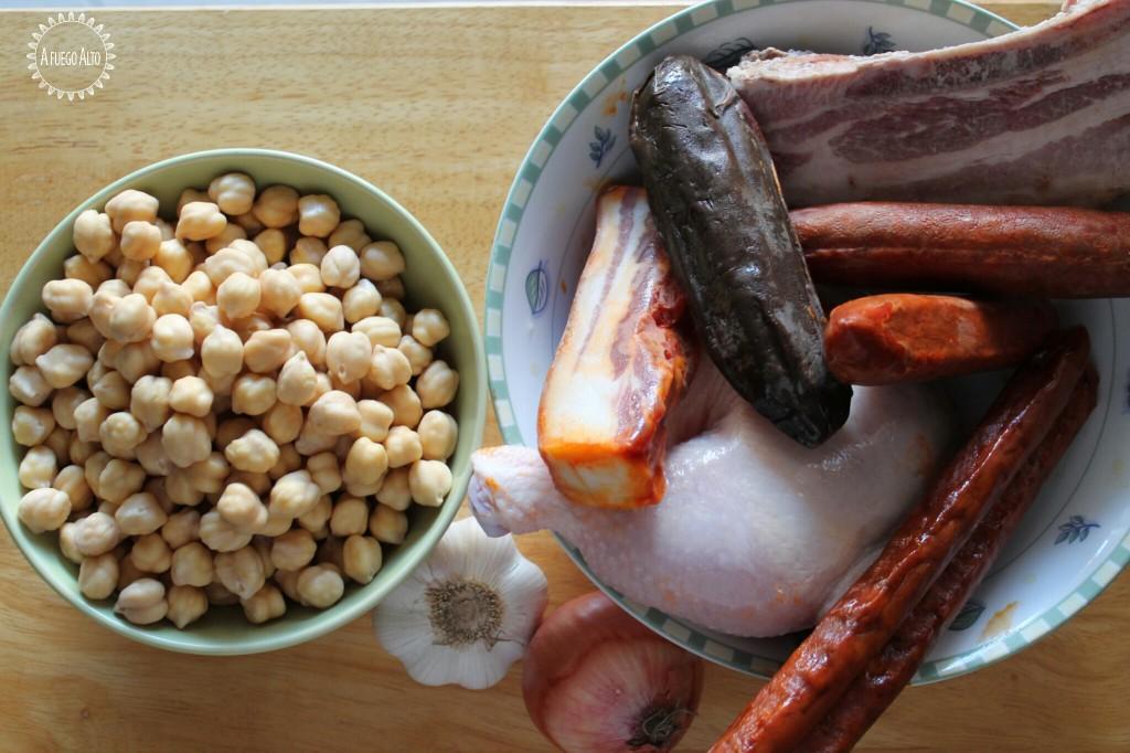 Ingredientes principales del cocido