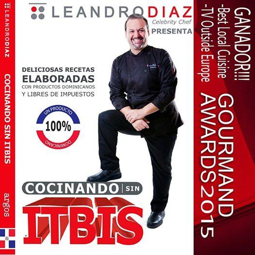 El libro «Cocinando sin ITBIS» de Leandro Díaz gana premios Gourmand Awards