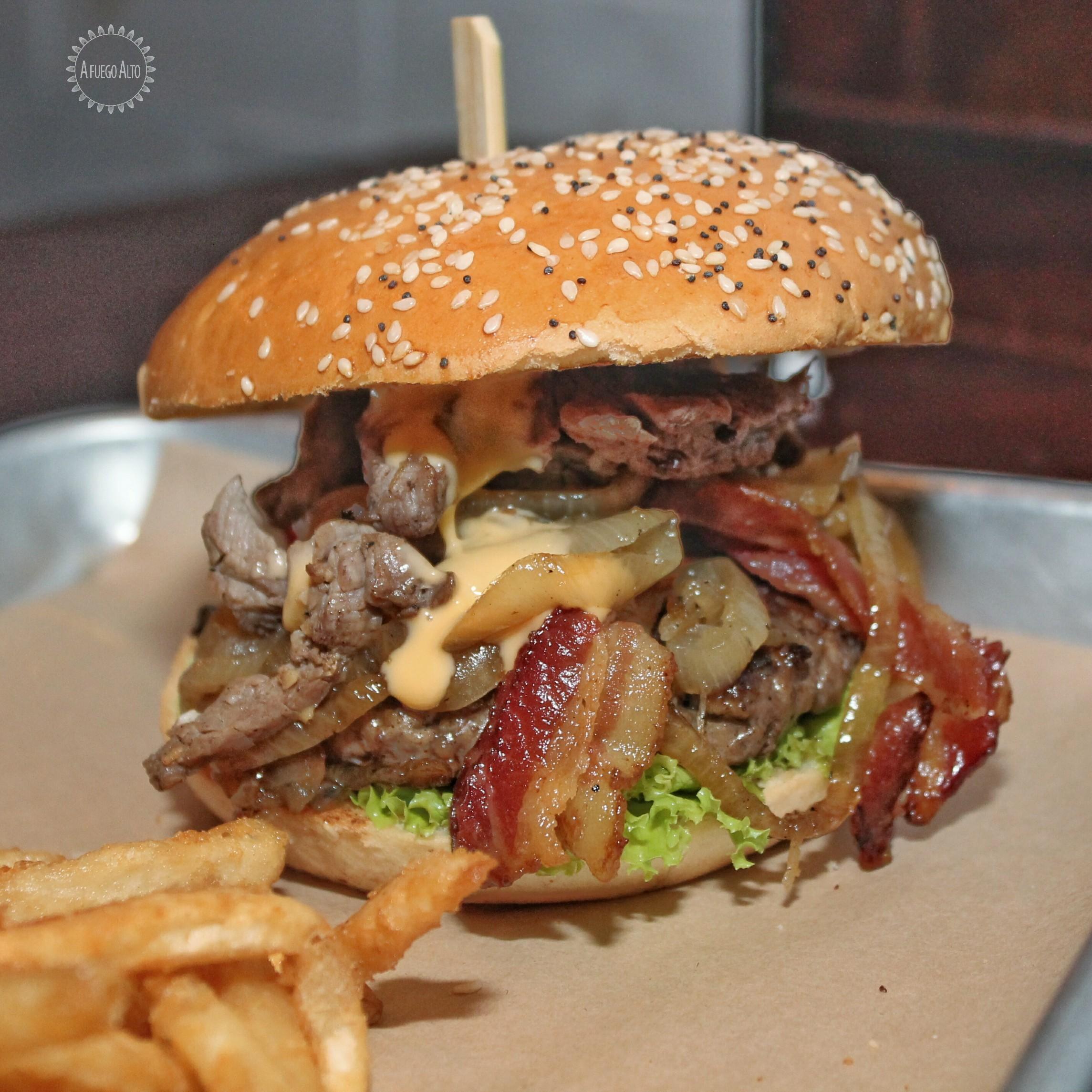 The Macro Monster Burger (Mustard's)