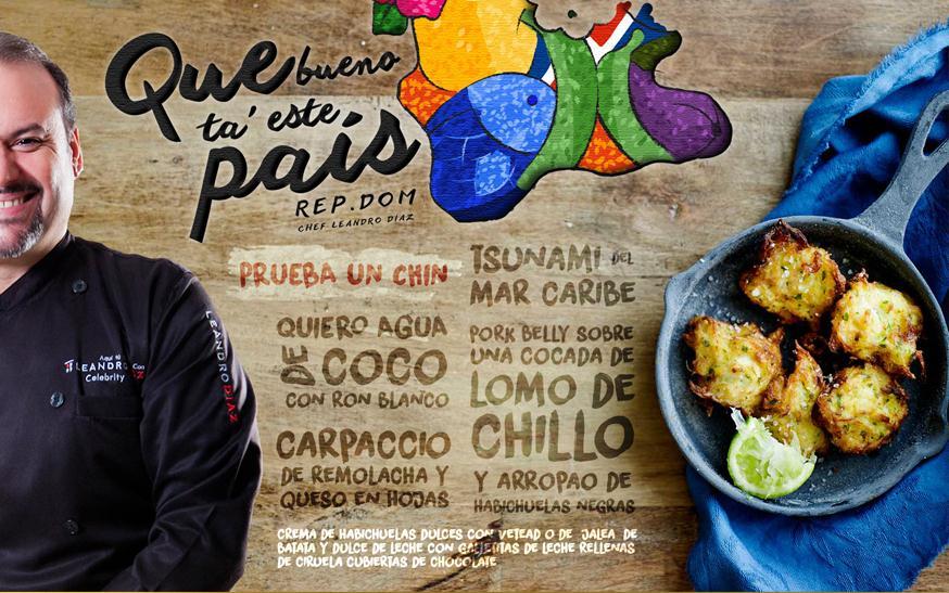 Chef Leandro Díaz presenta «Prueba un chin de República Dominicana»