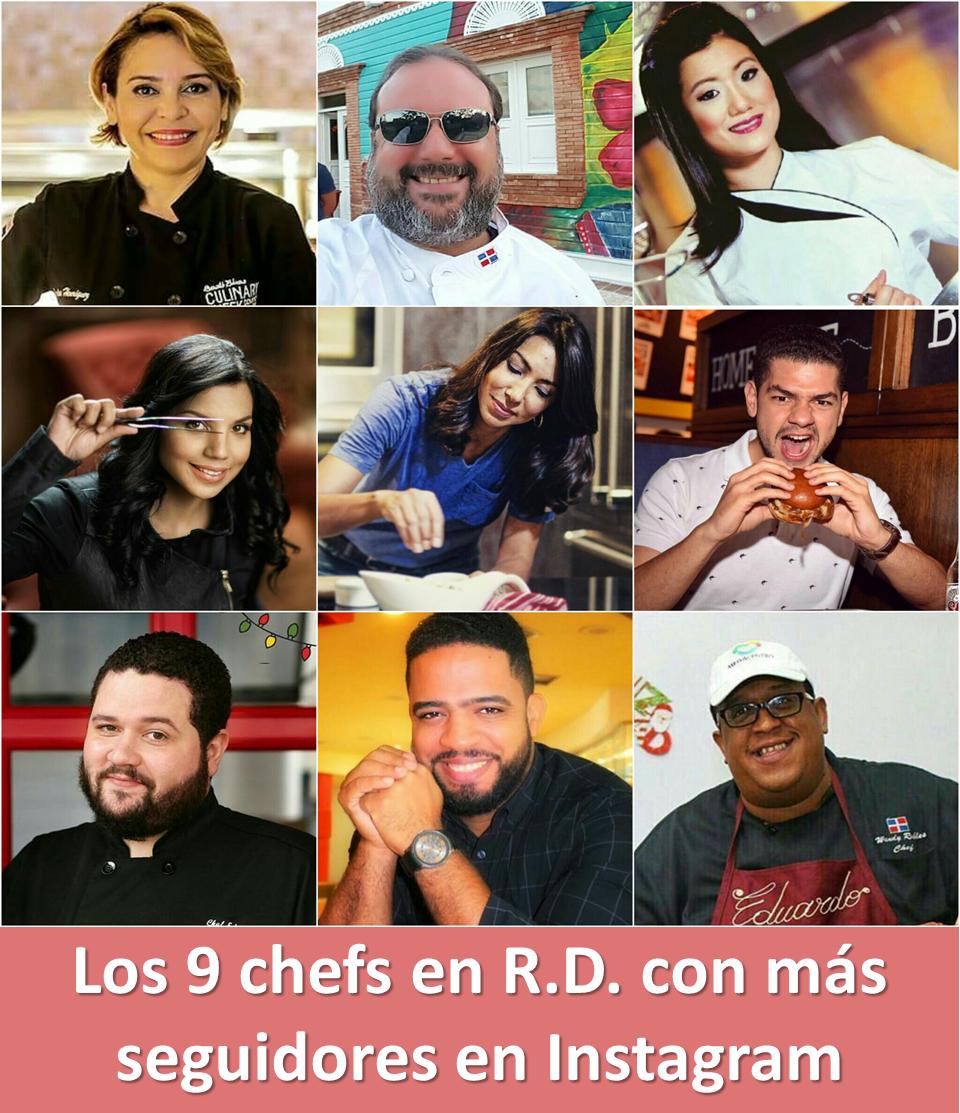 Los 9 chefs en R.D. con más seguidores en Instagram