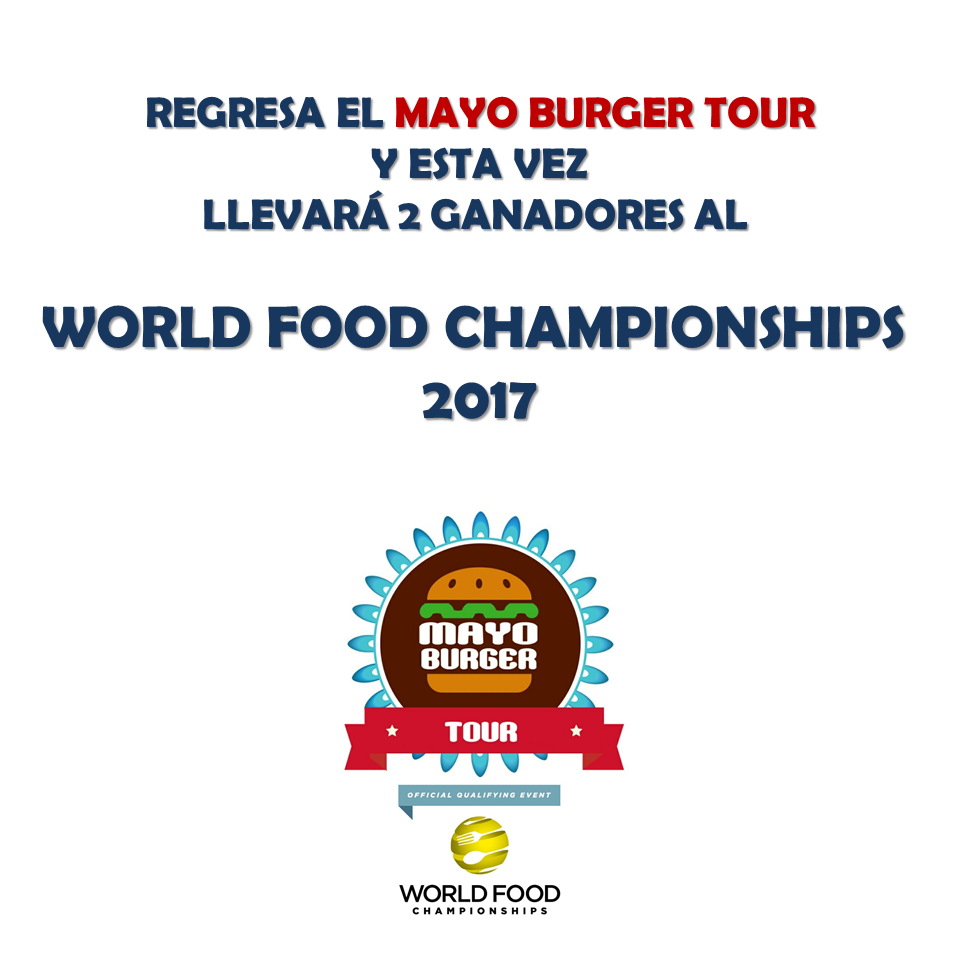 Reglas y Formulario de Inscripción del  Mayo Burger Tour 2017