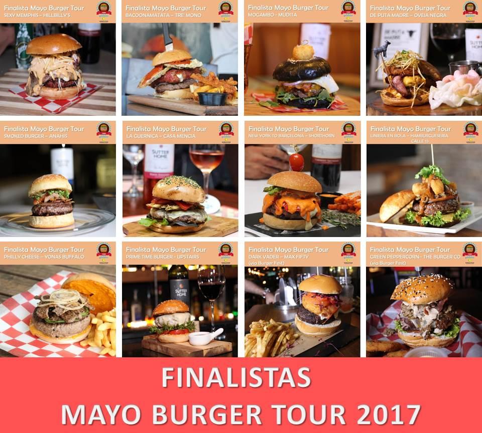 Finalistas del Mayo Burger Tour 2017