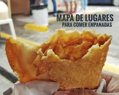 Mapa con lugares para comer empanadas en R.D.
