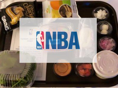 La comida de los jugadores de la NBA durante el resto de la temporada.