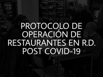 Protocolo de operación de restaurantes en R.D. post COVID-19