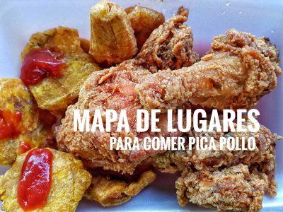 Mapa de lugares para comer Pica Pollo en R.D.
