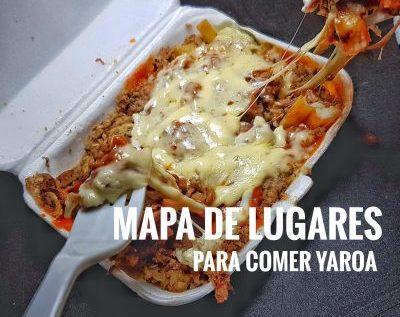 Mapa de lugares para comer Yaroas en R.D.